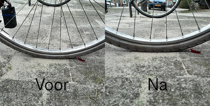 voor na fietsbanden