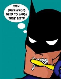 tanden poetsen batman