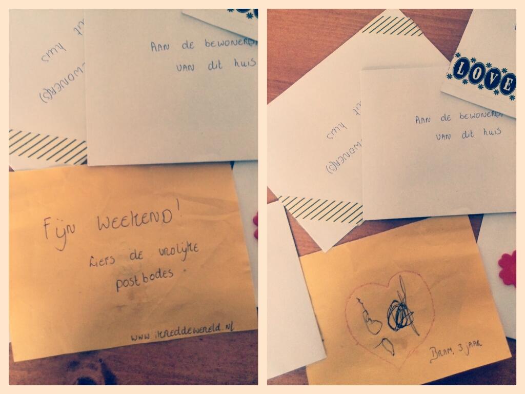 vrolijke briefjes