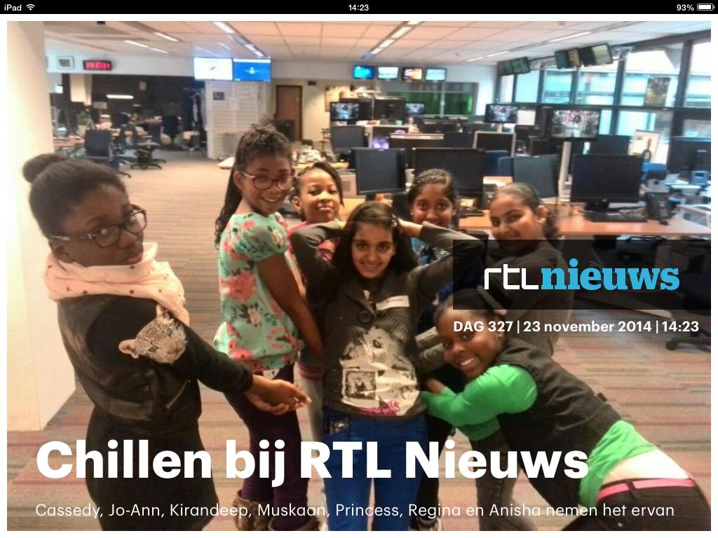 Cassedy, Jo-Ann, Kirandeep, Muskaan, Princess, Regina en Anisha RTL Nieuws
